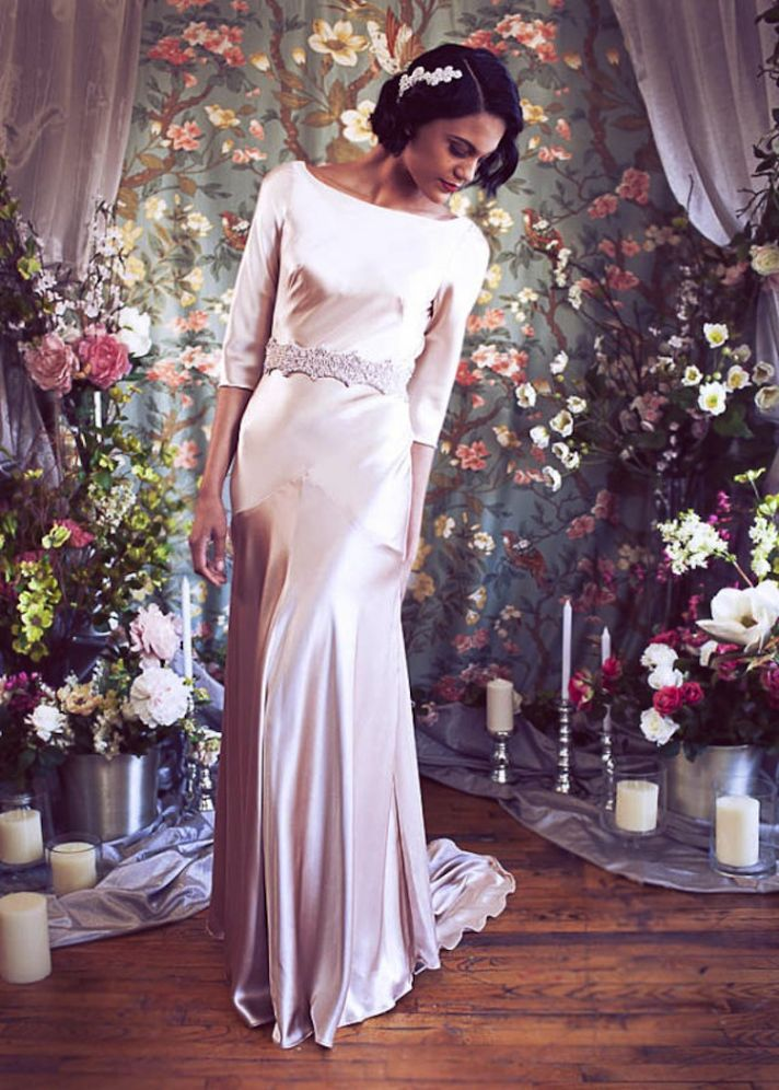 Sleek And Elegant Liquid Satin Wedding Dresses Crazyforus