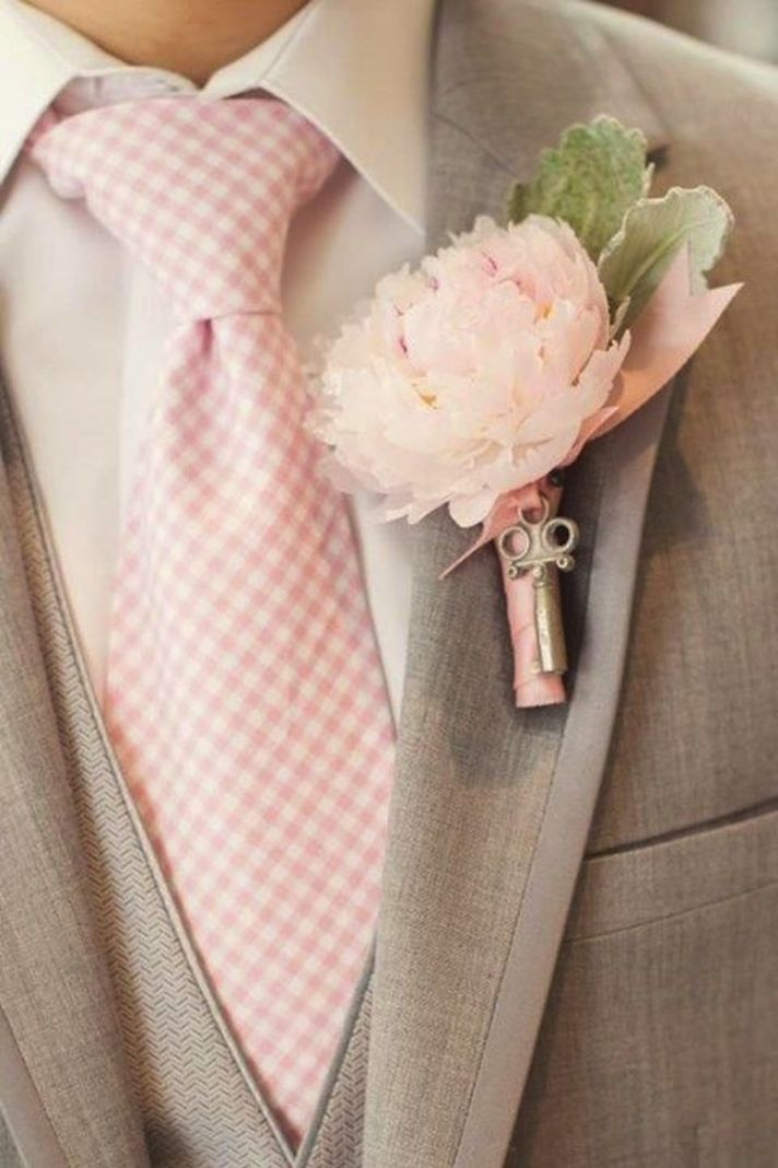 Blush Tie For Groom