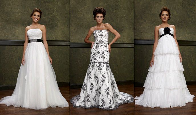 Eye On Bridal Fashion: Black Accents, Sophisticated Style