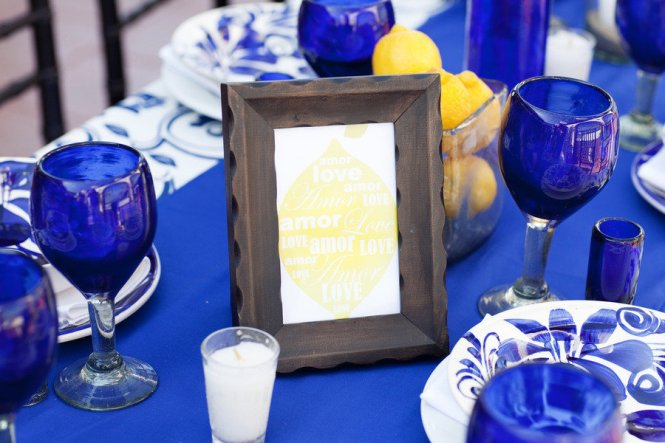 Blue And Yellow Wedding Decorations