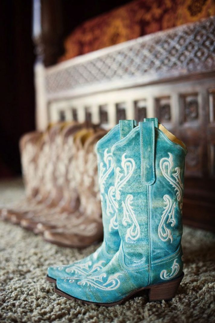 Blue Wedding Cowboy Boots