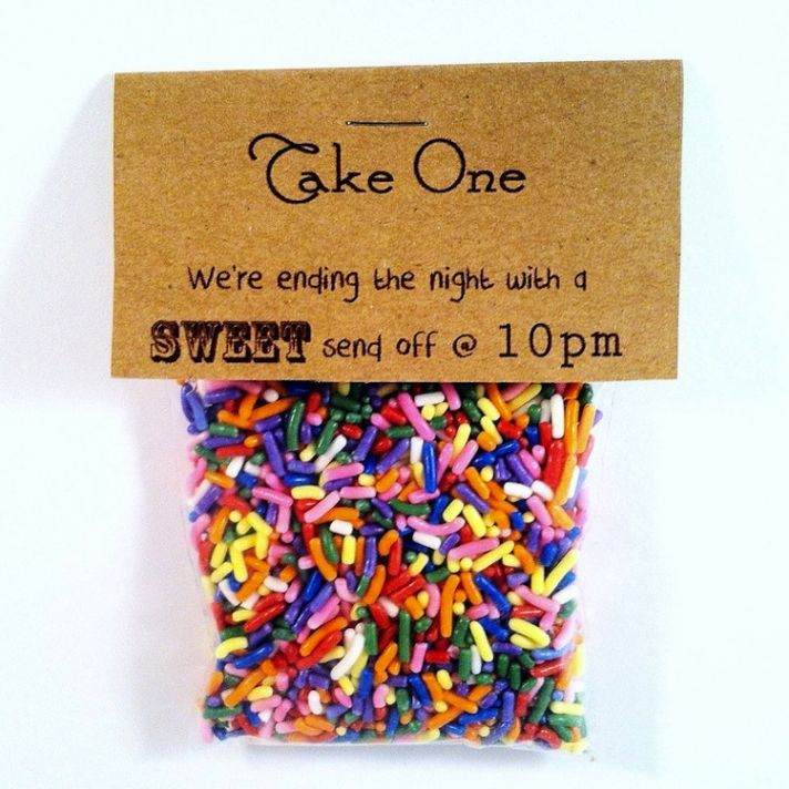 Memorable Wedding Send-Off With Candy Sprinkles