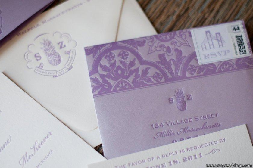 Dallas Wedding Invitations Custom Doodle Dog Stationery