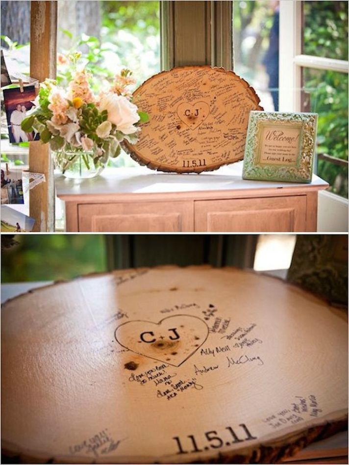 Tree Stump Guest Book