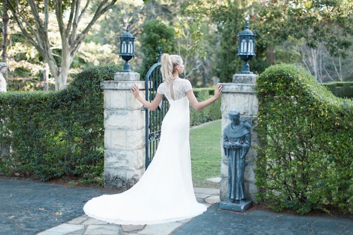 Brooke Wedding Dress with Open Oval Back
