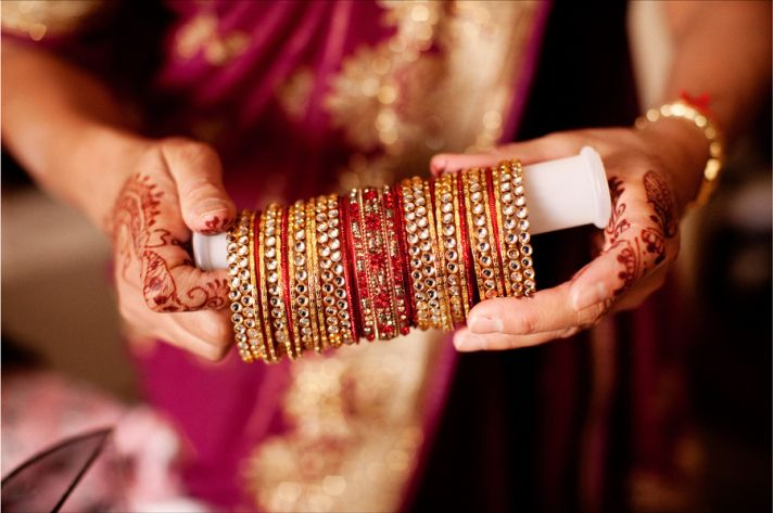 multi cultural weddings indian bride bridal bangles jewelry