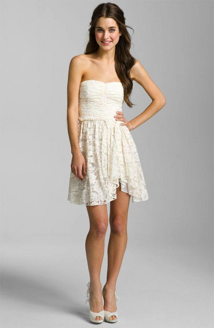 lace little white wedding dresses for the wedding reception LWDs Jill Stuart