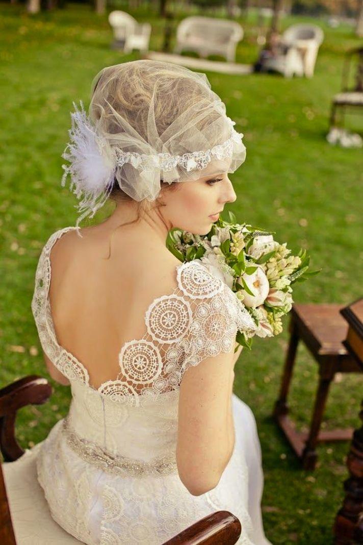 Sheer Juliet Cap Bridal Veil