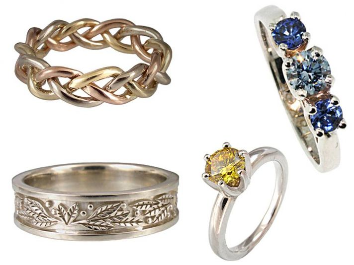 Unique Diamond Pendants Organic Engagement Ring Wedding