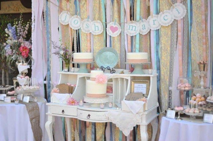 5 DIY Wedding Ribbon Backdrop Ideas