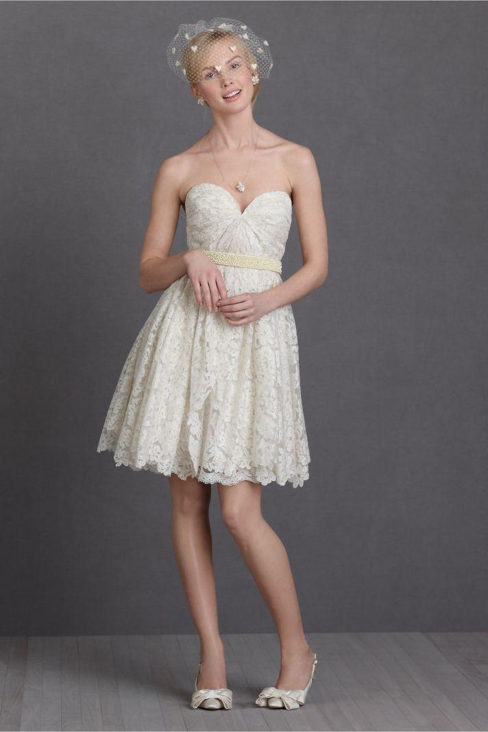little white wedding reception dresses romantic LWD from BHLDN 1