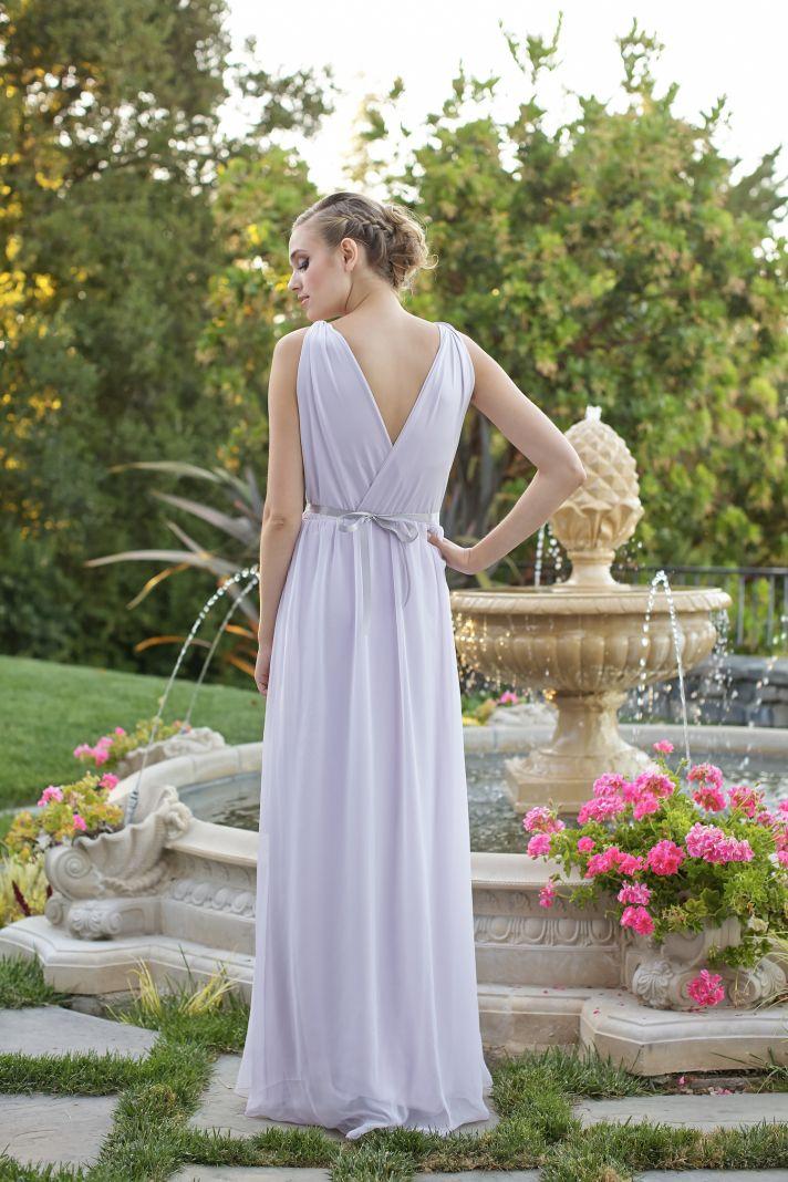 Grecian style bridesmaids dress back