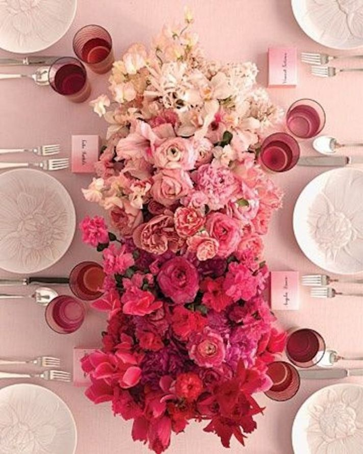 Stunning Ombre Pink Floral Centerpiece