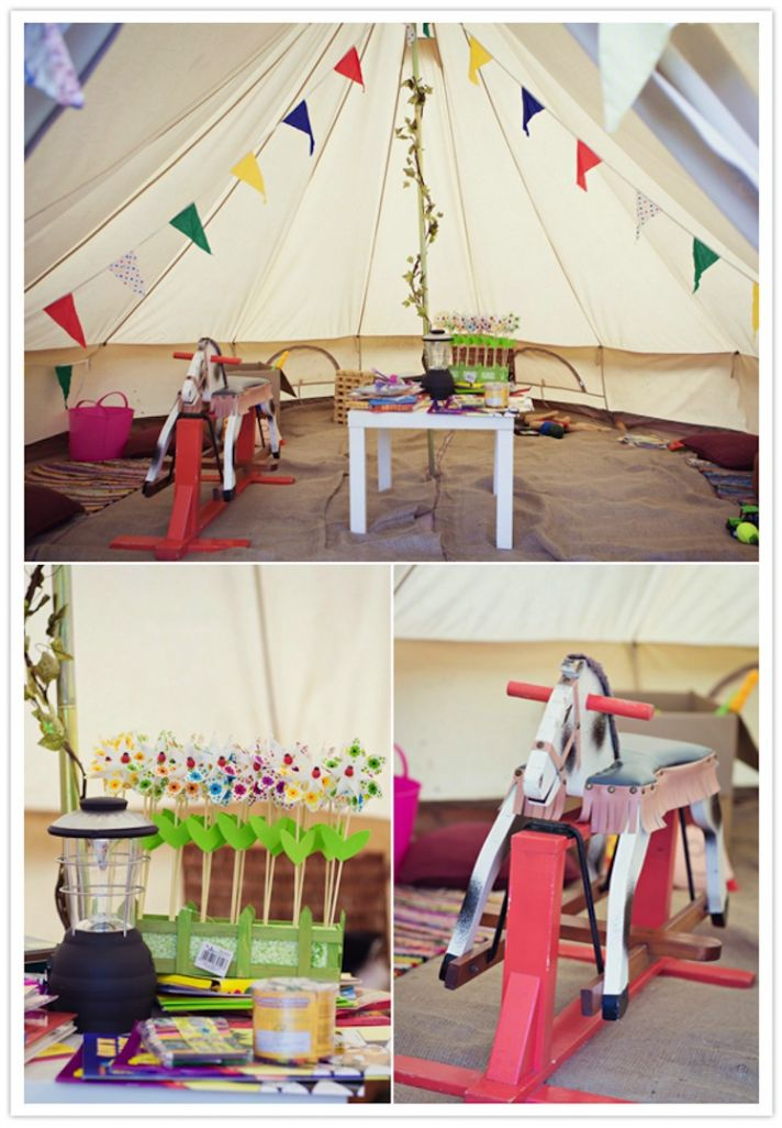 Tent for Kids at wedding