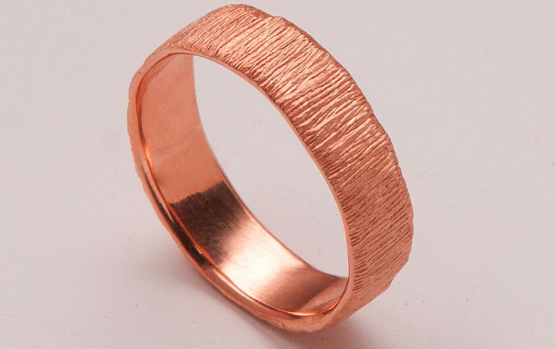 Rose Gold Ring Mens Rose Gold Ring Band