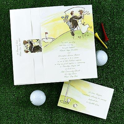 Golf Themed Wedding Invitations