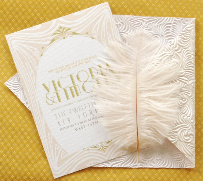 Great Gatsby Wedding Invitation Suite