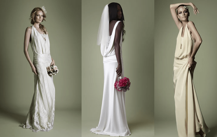 Blast from the past the 1920s bride makes a comeback for Wedding dresses in the 1920s