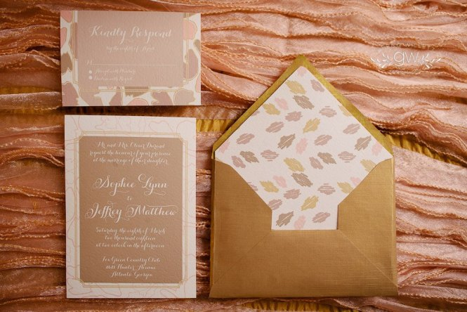 Gold And Ivory Wedding Reception