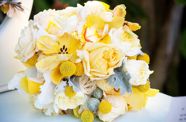 White And Yellow Bridal Bouquet, Wedding Flowers 12