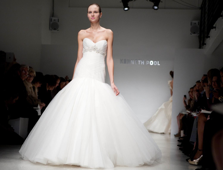 Dramatic Tulle Mermaid Wedding Dress