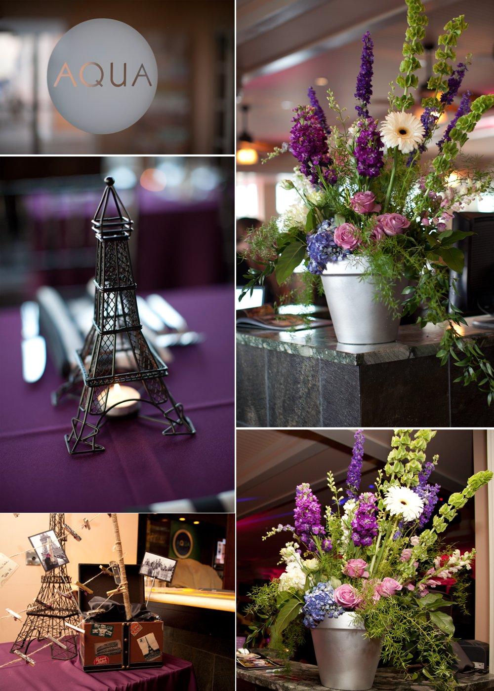 Rustic Wedding Flower Centerpieces Paris Themed Wedding Decor