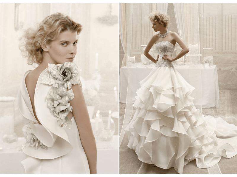 Romantic And Dramatic 2012 Wedding Dresses