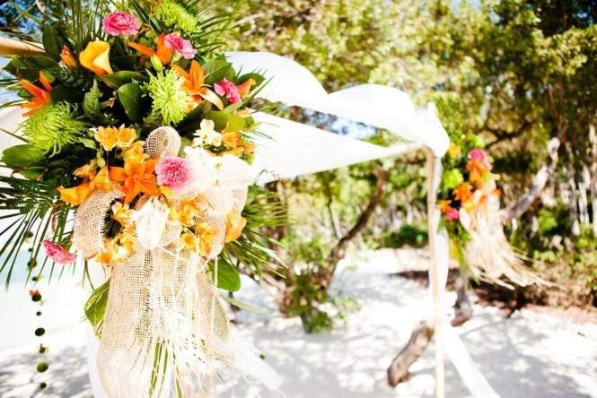 Tropical Palm Beach Wedding Decor Style