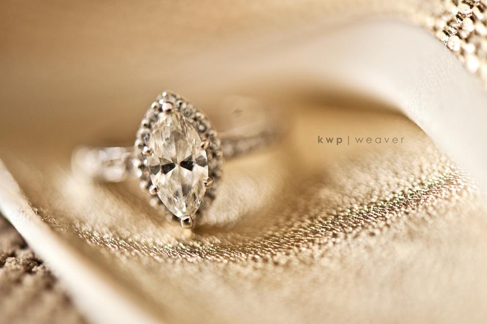 Elegant Wedding Photography Diamond Engagement Ring Shot