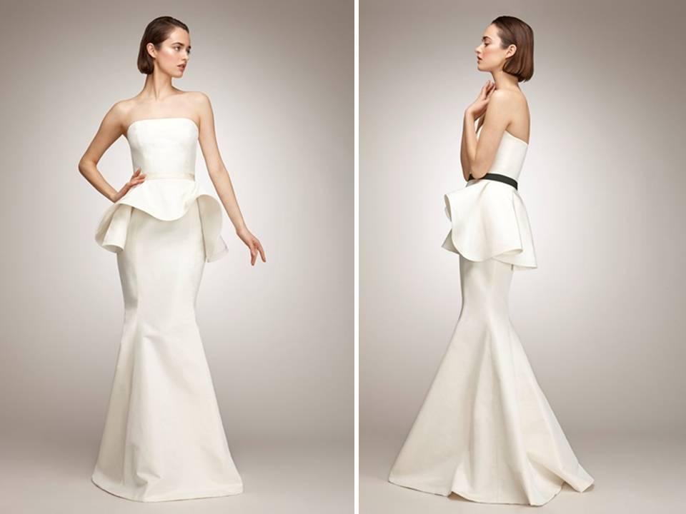 Chic Ivory Mermaid Wedding Dress With Black Sash And