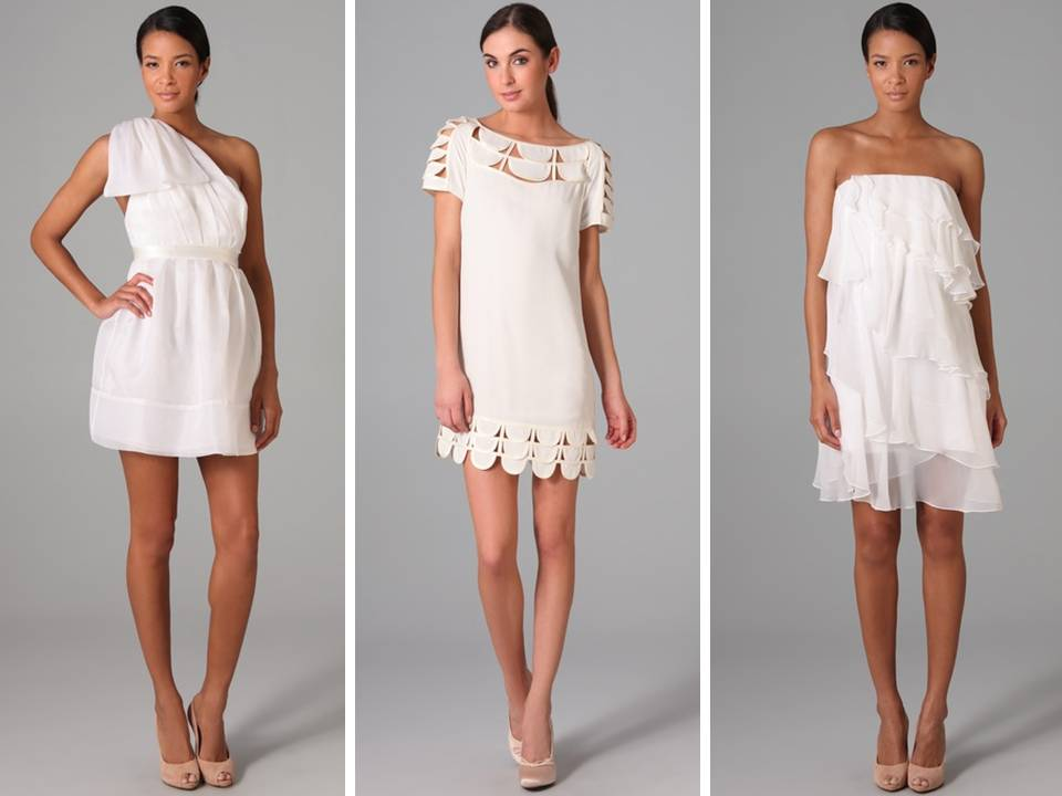 Chic Little White Dresses From A Casual Wedding Or 2nd