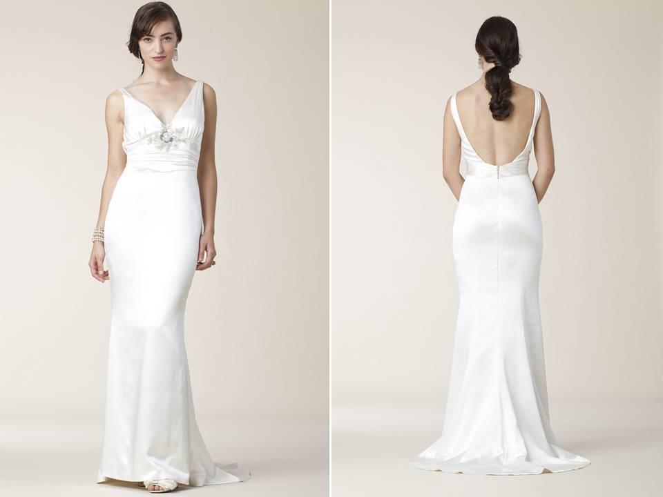 Slinky Silk Halter Sheath/mermaid Wedding Dress Open Scoop