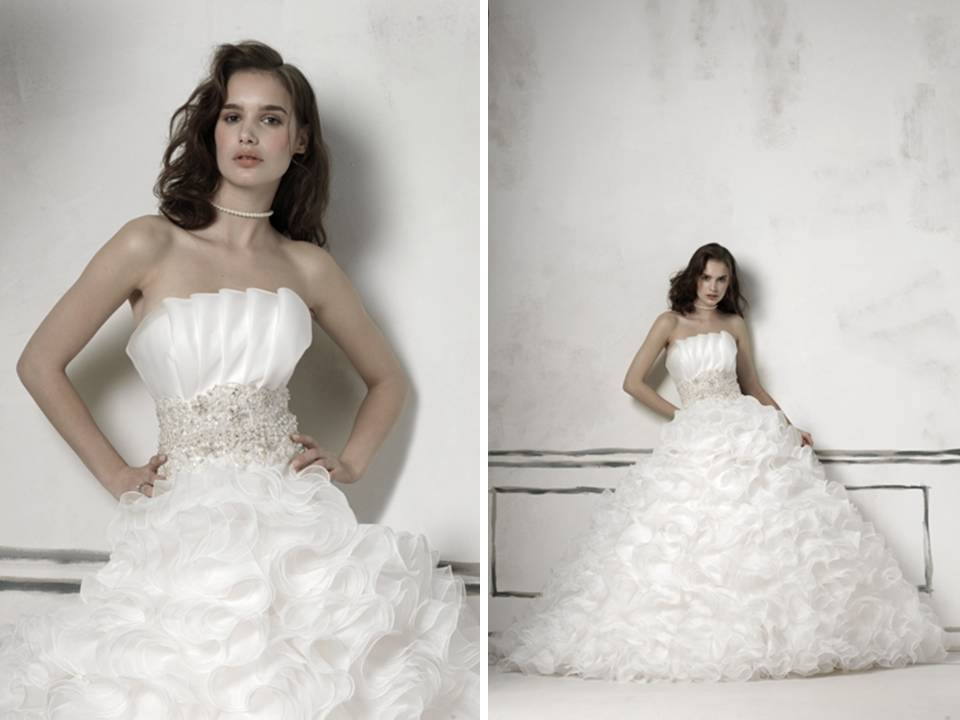 Justin Alexander 2011 Ball Gown Wedding Dress With Crumb