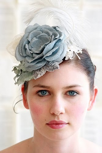 Make A Statement In This Blue Grey Shabby Chic Bridal