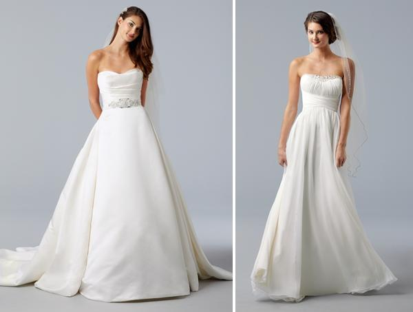Strapless Ivory Wedding Dresses- Princess A-line With