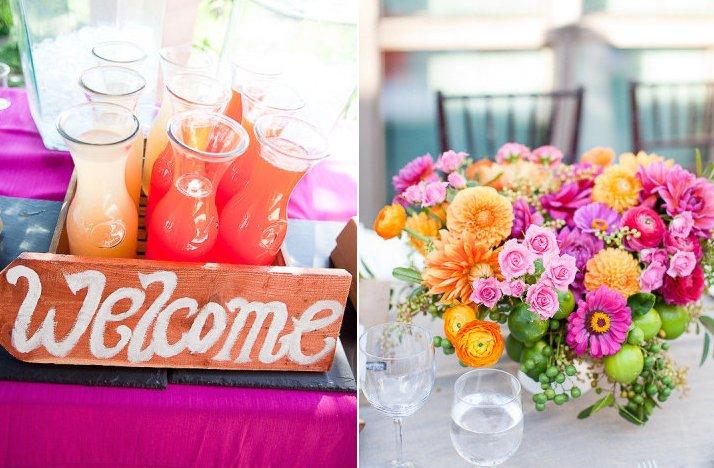 Pink Lemonade Wedding Color Palette Spring Summer Wedding