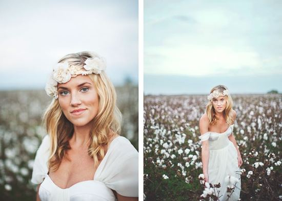 Romantic Bridal Headpieces Wedding Crown With Flowers