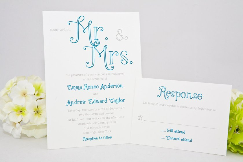 Vine Moustache Mr Mrs Wedding Invitations Zazzle And Pretty Calligraphy