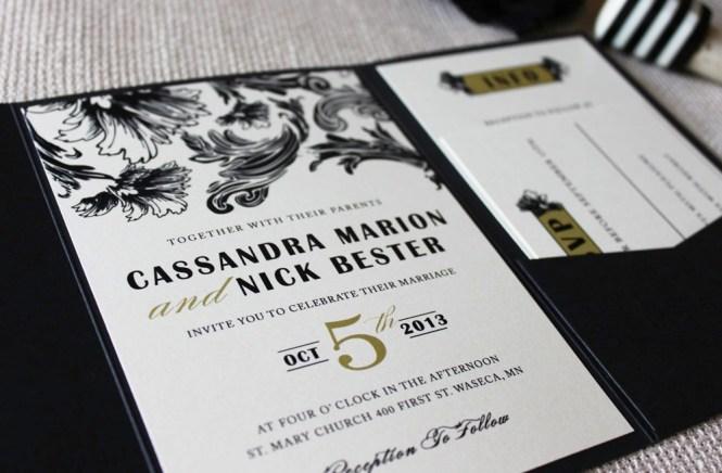 Vintage Glam Zoo Wedding Invitations