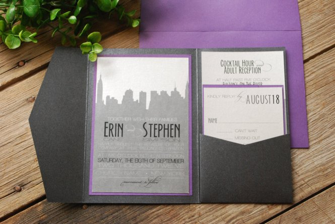 East Six Custom Wedding Invitations New York Los Angeles Event Baby Announcements