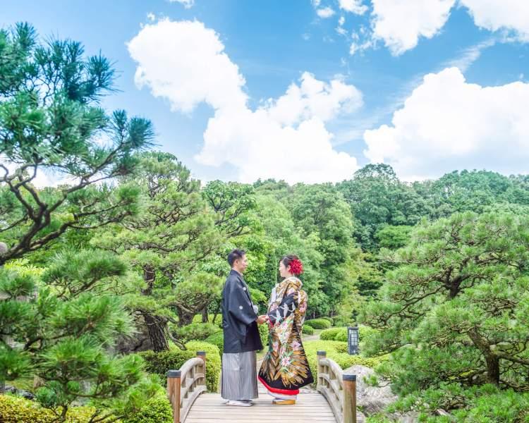 福岡前撮りのオススメロケ地:日本庭園│福岡の前撮り・フォトウェディングはTHE WEDDING TOWN