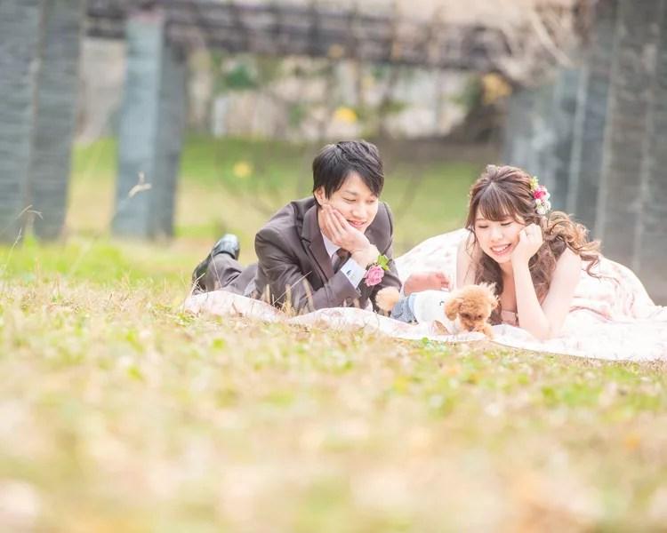 福岡 舞鶴公園での前撮り│福岡の前撮り・フォトウェディングはTHE WEDDING TOWN