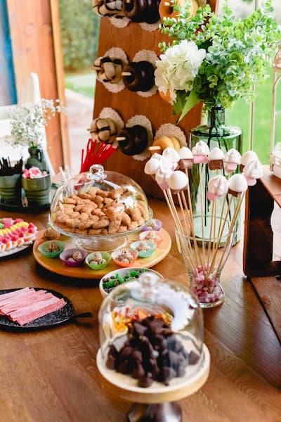 candy bar wesele rustykalne