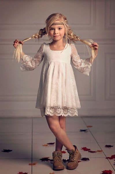 fryzury na wesele dla dziewczynek boso warkocze