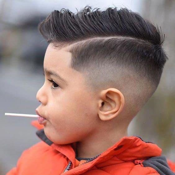 fryzura ślub chłopiec wzorki