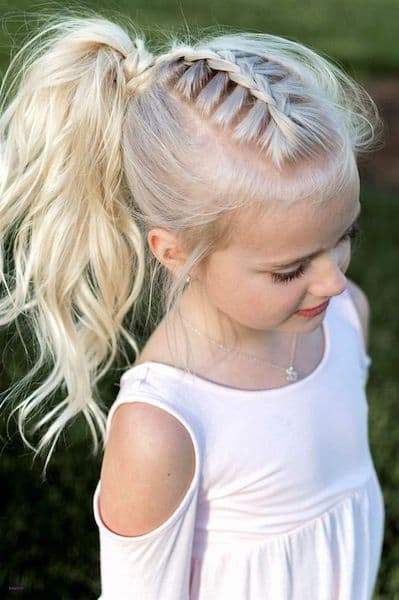 fryzury dla dziewczynek kucyk