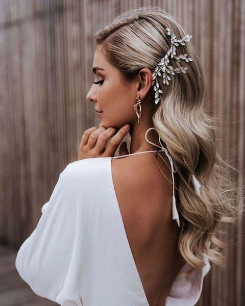fryzury na wesele fale hollywoodzkie eleganckie