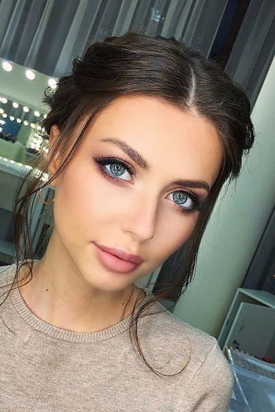 makijaż na wesele naturalny brunetka
