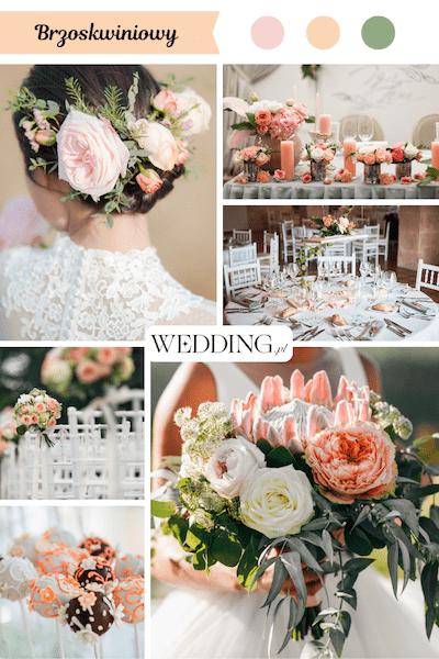 kolor przewodni wesela brzoskwiniowy