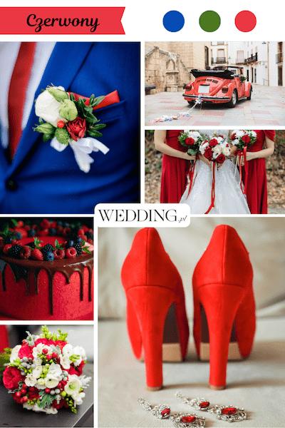 kolor przewodni wesela trendy czerwony